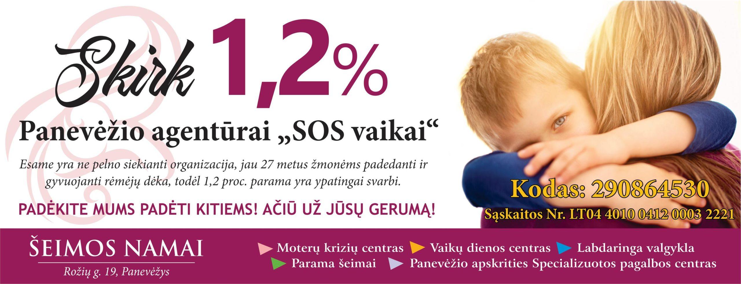 Parama SOS vaikai Panevėžiiui